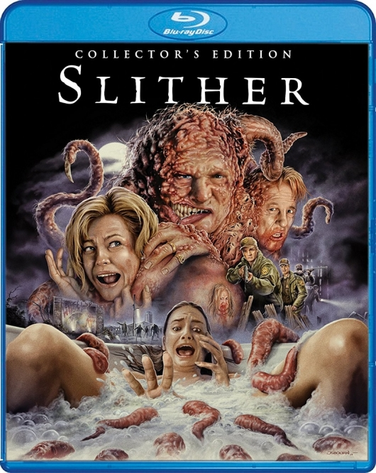 Scream Factory's Slither Collector's Edition Blu-ray Cover