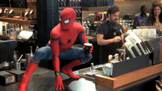 Spider-Man: Homecoming Starbucks Pranks
