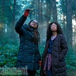 Ava DuVernay and Storm Reid On The Set Of A Wrinkle In Time