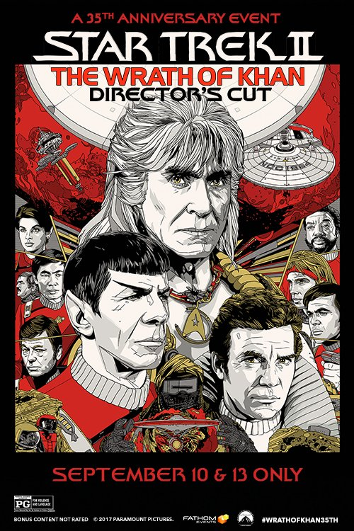 Star Trek II: The Wrath of Khan director's cut poster