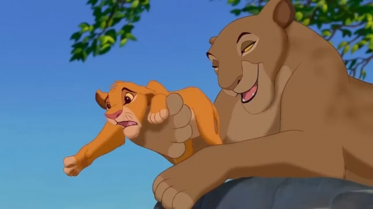 Sarabi and Simba in The Lion King