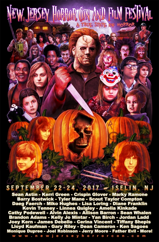 2017 New Jersey Horror Con and Film Festival poster