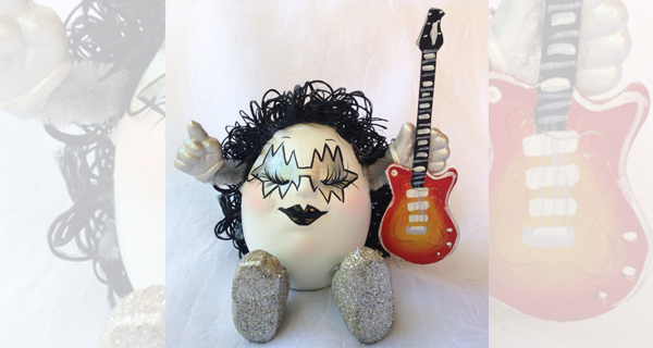 Ace Frehley Handmade Ceramic Doll