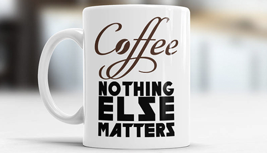 Coffee Nothing Else Matters Metallica Mug
