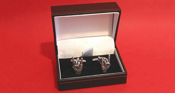 Pewter Metal Horns Cufflinks