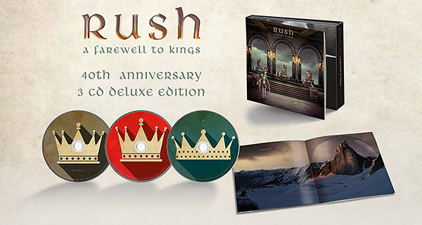 RUSH: Farewell To Kings 40th Anniversary 3 CD Deluxe Edition