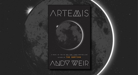 Artemis book cover banner Andy Weir
