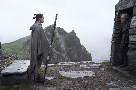 Star Wars: The Last Jedi starring Daisy Ridley and Mark Hamill