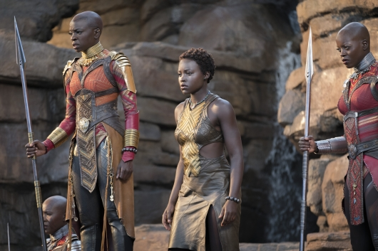 Black Panther Okoye and Nakia