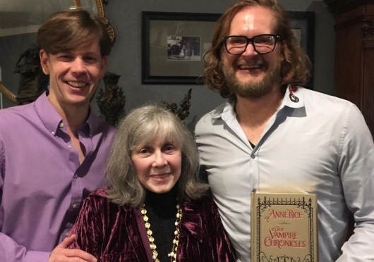 Bryan Fuller With Vampire Chronicles Author Anne Rice and Christopher Rice