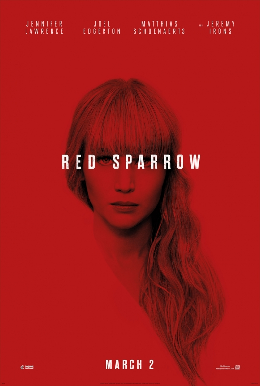 Jennifer Lawrence Red Sparrow poster