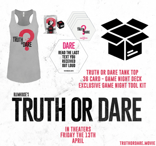 Truth or Dare prize pack