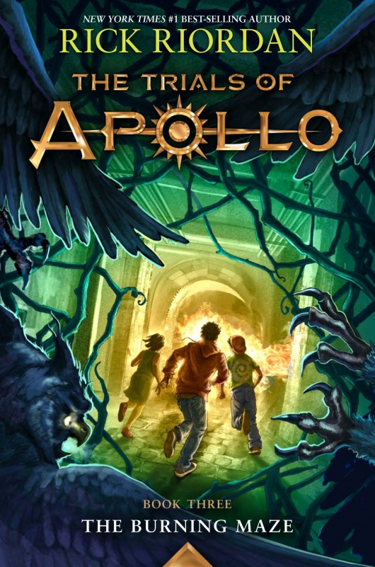 The Trials of Apollo, Book 3: The Burning Maze book cover