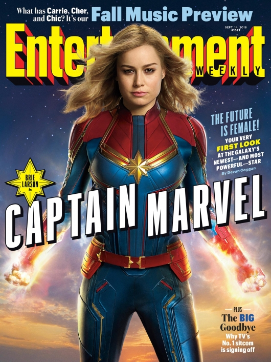 Captain Marvel EW cover