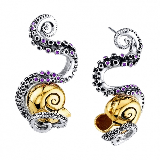 Disney x RockLove Little Mermaid Tentacle Earrings Posts