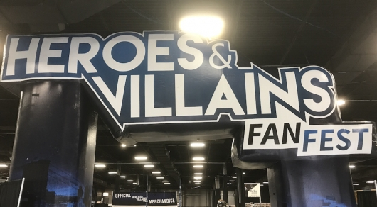Heroes Villains Fan Fest HVFF Sign