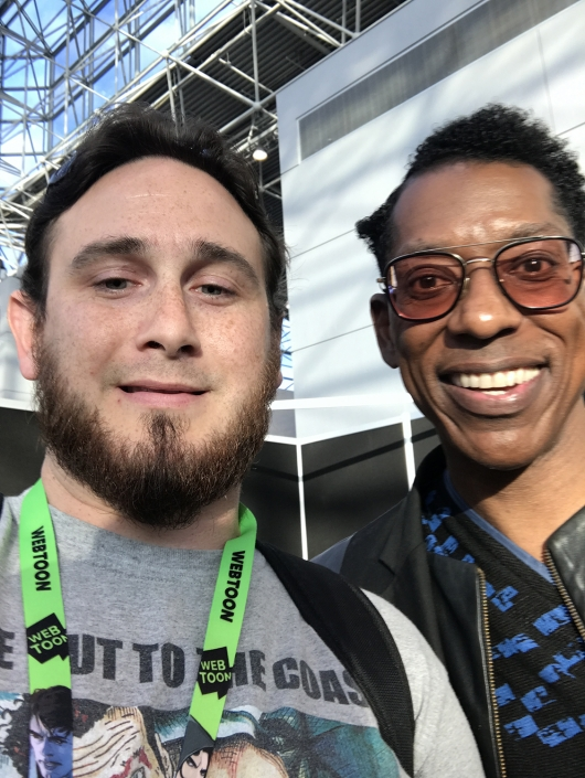 American Gods Orlando Jones with our Dr. Zaius