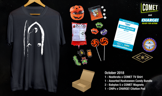 Comet TV & Charge October 2018 Halloween Hushaween Prize Pack