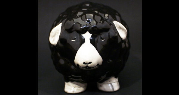 Abbahhhth the Black Metal ceramic sheep