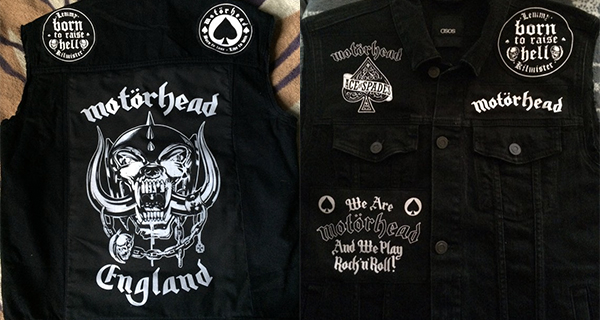 Motorhead Black Denim Vest