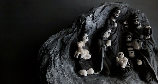 Nativity II Black Metal Corpse Paint Figurine