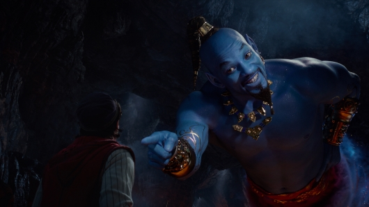 Aladdin's Will Smith as the blue Genie