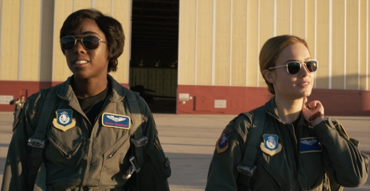 Captain Marvel's Lashana Lynch and Brie Larson