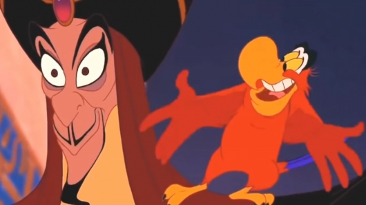 Jafar and Iago in Disney's Aladdin (1992)