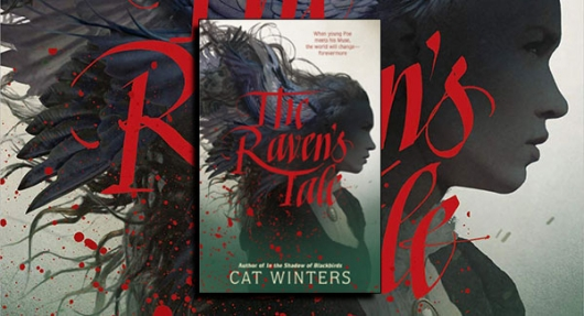 The Raven's Tale book cover Cat Winters banner