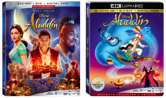 Aladdin live action and animated Blu-ray Editions