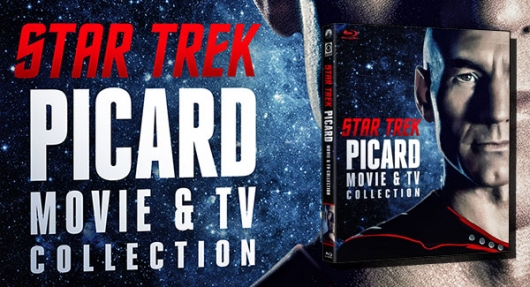 Star Trek: Picard Movie and TV Collection Blu-ray banner