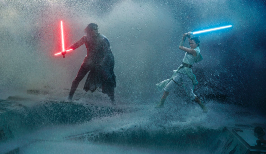 Star Wars: The Rise Of Skywalker Rey and Kylo battle