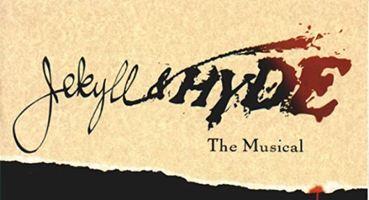 Jekyll and Hyde Broadway musical banner