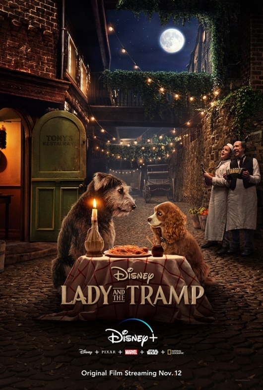Lady and The Tramp poster live-action Disney Plus