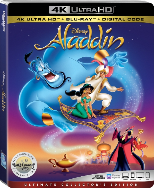 Aladdin animated 4K cover (1992)
