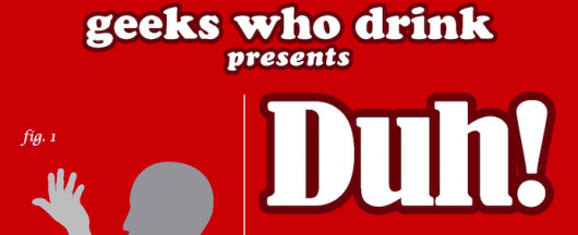 Geeks Who Drink Presents: Duh! book cover banner