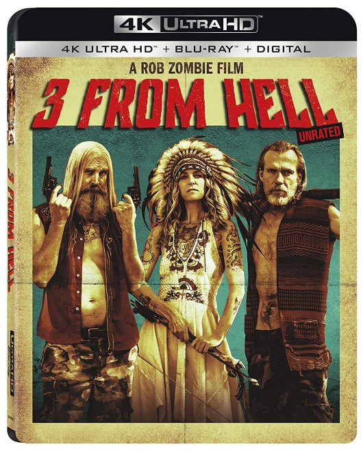 Rob Zombie 3 From Hell 4k Blu-ray cover