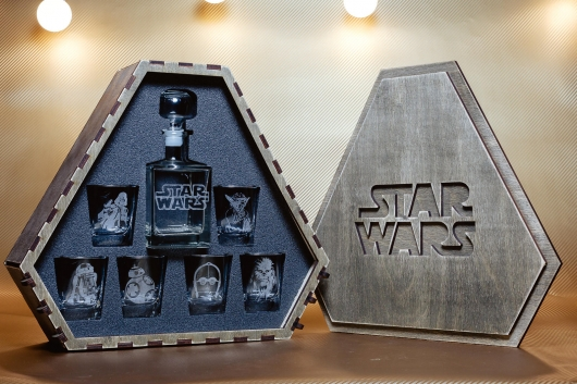 Etsy Star Wars Whiskey Decanter Set