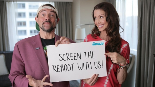 Kevin Smith and Shannon Elizabeth Omaze